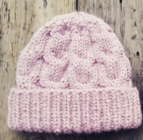 Шапка «Розовый снег» с отворотом