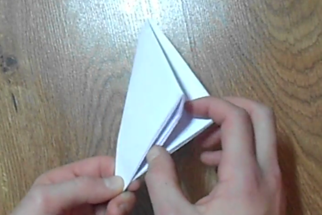Бумажная хлопушка-оригами