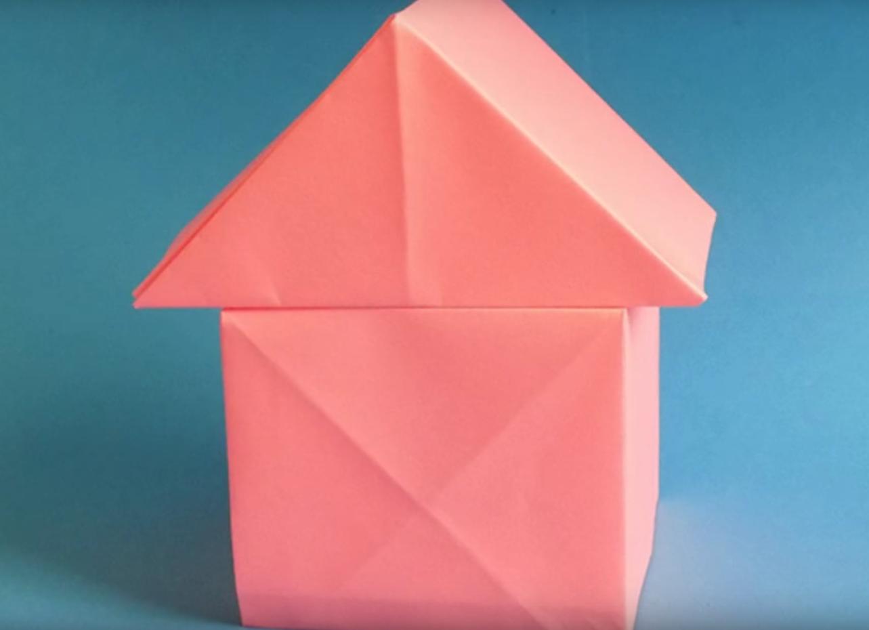 Оригами-домик из бумаги